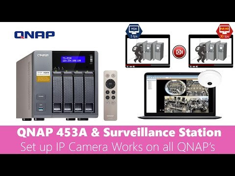 QNAP TS 453A Set up Camera in Surveillance Station works on
