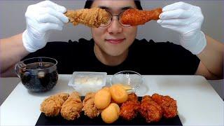 BBQ 황금올리브 치킨 닭다리 먹방 야미~ 호로록!! …