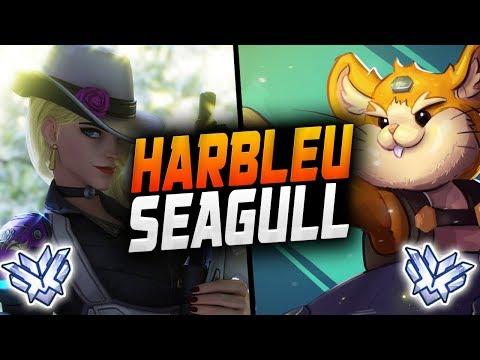 HARBLEU HAMMOND AND SEAGULL ASHE! Perfect DUO! [ OVERWATCH SEASON 14 TOP 500 ] thumbnail
