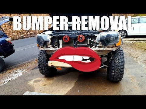 2nd Gen Toyota Tacoma 5 Minute Front Bumper Removal Tutorial