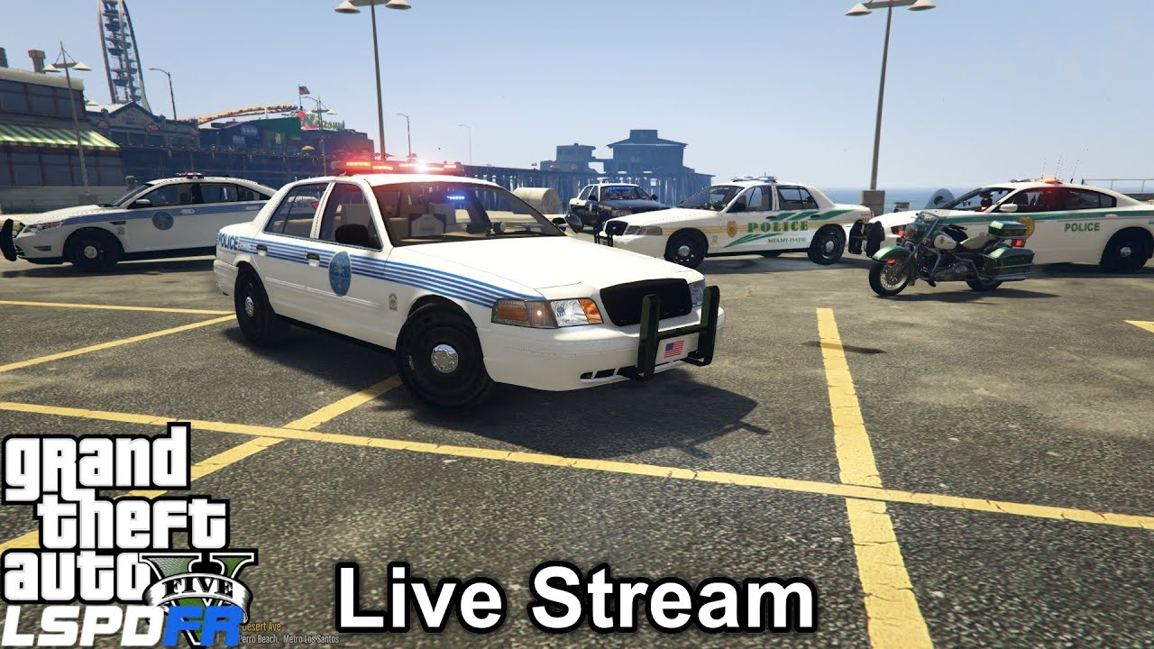 GTA 5 LSPDFR Police Mod 191 | Live Stream | City Of Miami PD, Miami-Dade PD  & Florida Highway Patrol