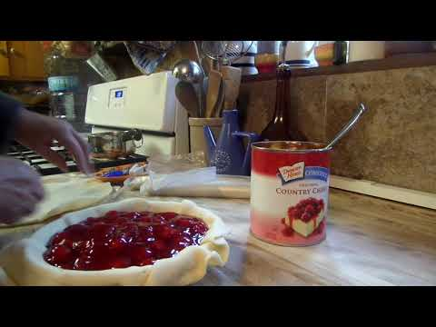 CHERRY PIE-MEAL PREP FOR DESSERTS-CHERRY PIE 2 INGREDIENTS