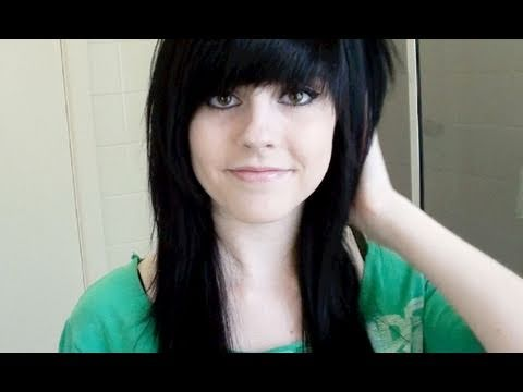 how to style your hair emo cutting my hair amp fringe bangs style 8885 | hqdefault