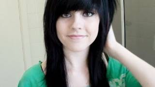 Cutting My Hair & Fringe (Bangs) Emo / Scene Style