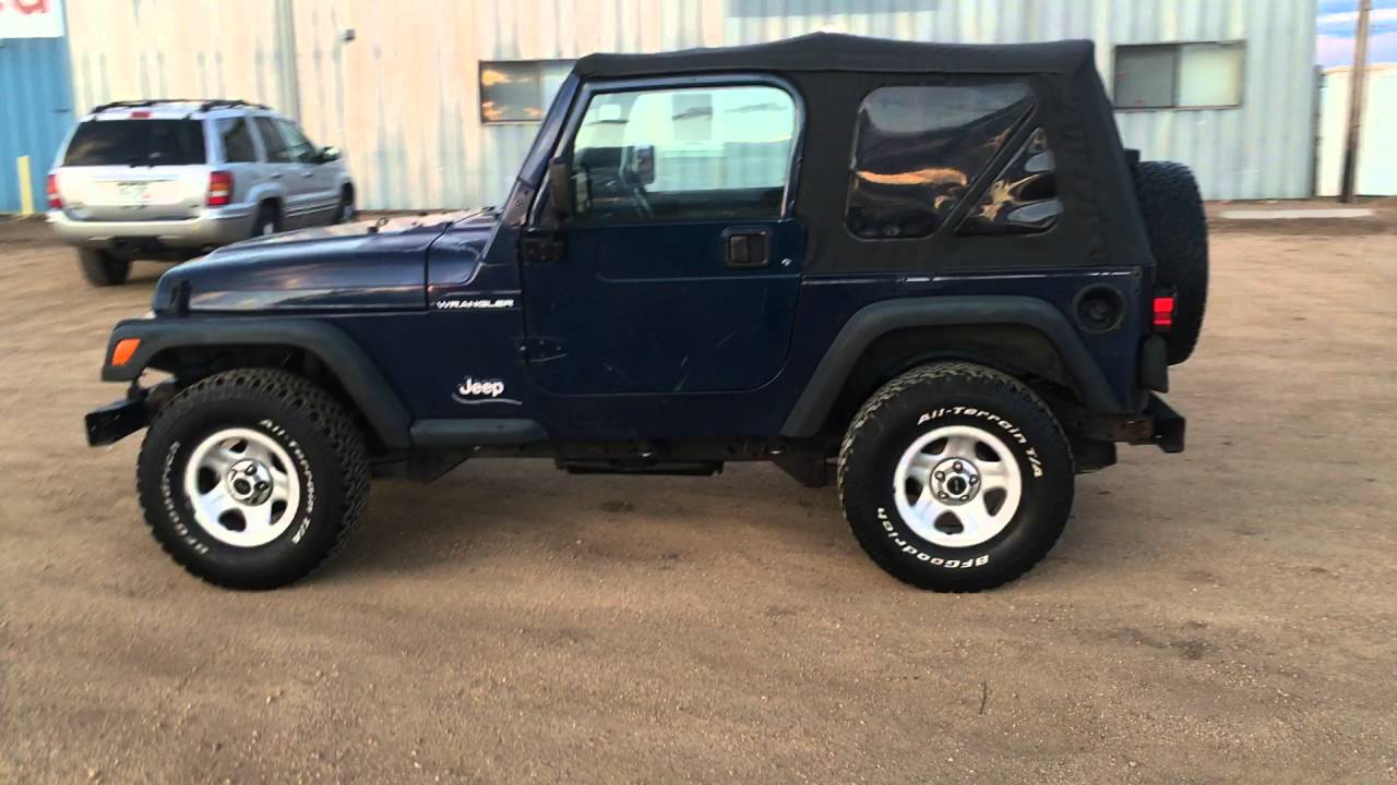 1997 Jeep Wrangler Tj 4 Cyl 2 5l Overall Exterior Video For