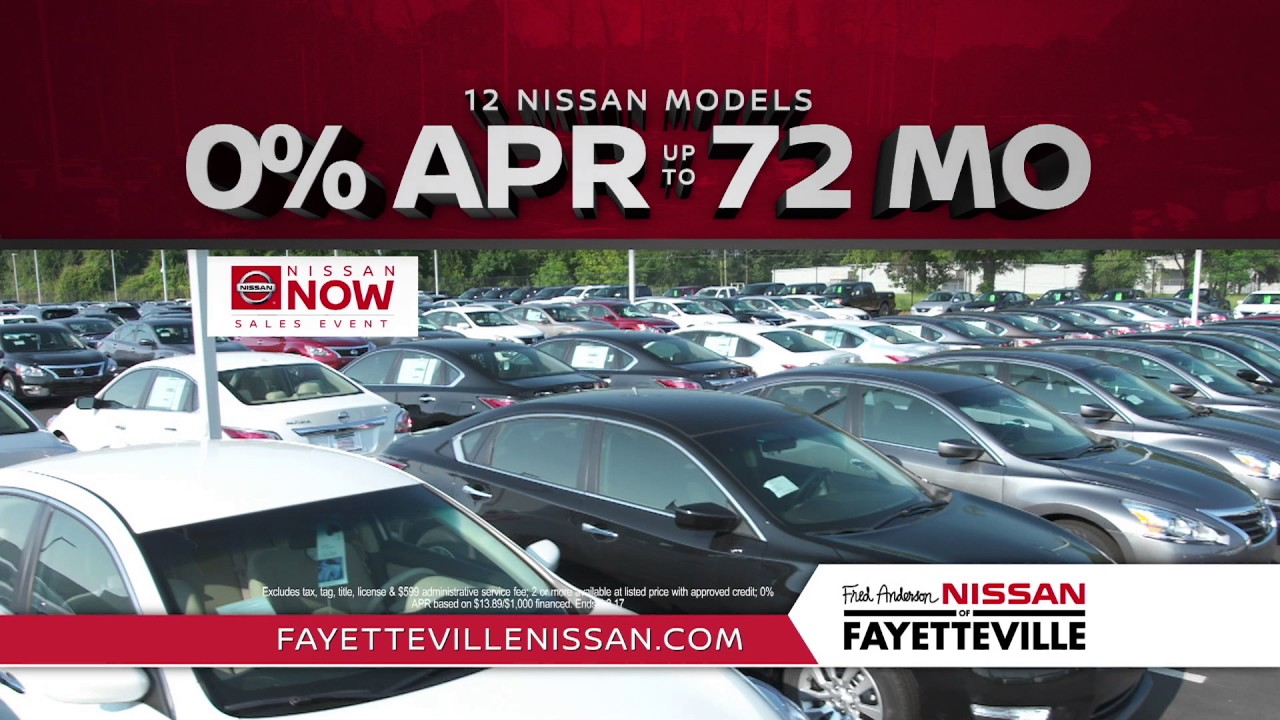 Fred Anderson Nissan Of Fayetteville   Nissan Now APR Specials