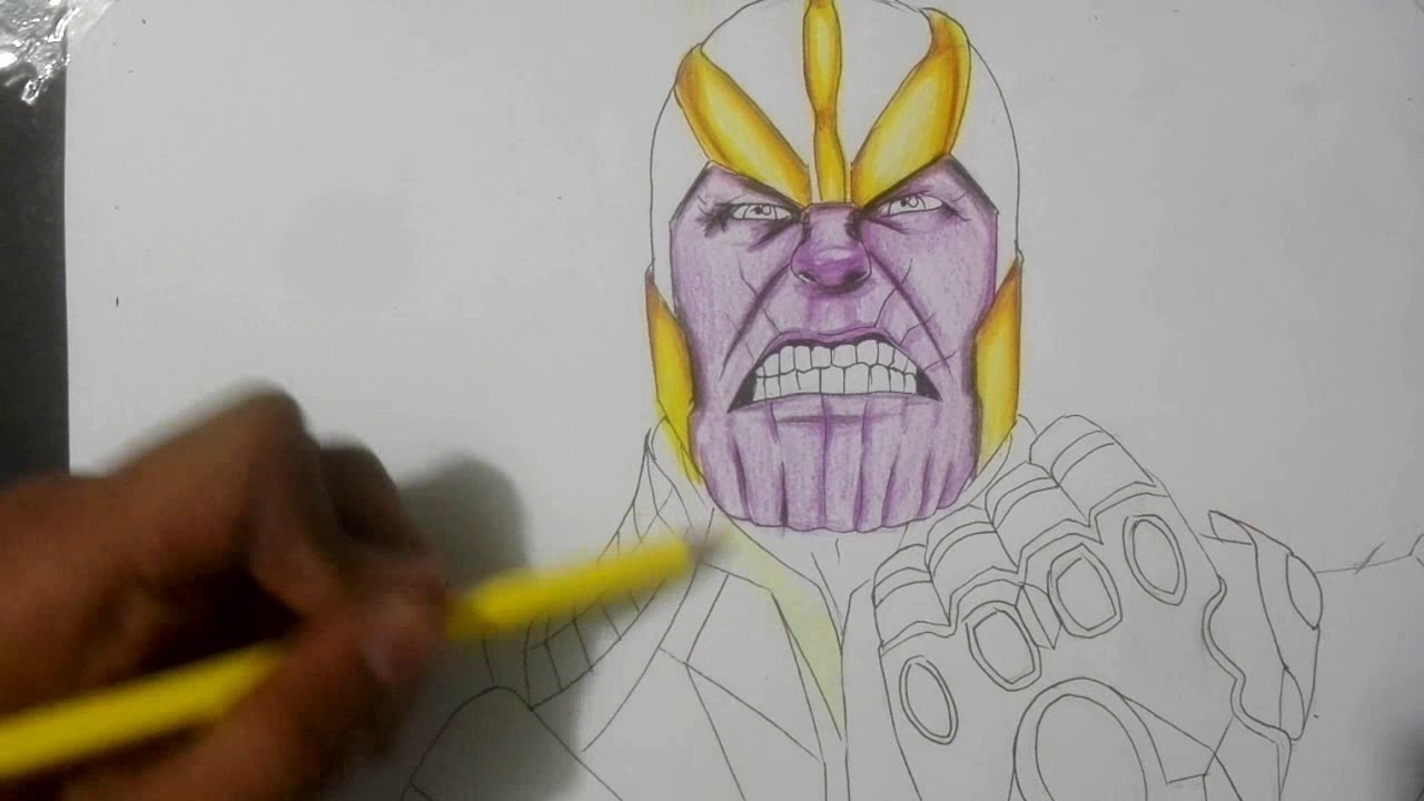Como dibujar a thanos speed drawing ll jmaxdraws