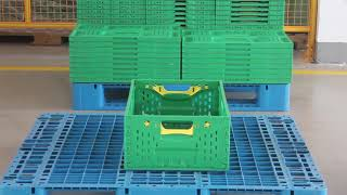 HOREN Guide to operate the collapsible plastic crates for fruits and vegetables