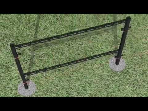 T Lock Fence Systems Quick Amp Easy T Post Corner Kit Doovi