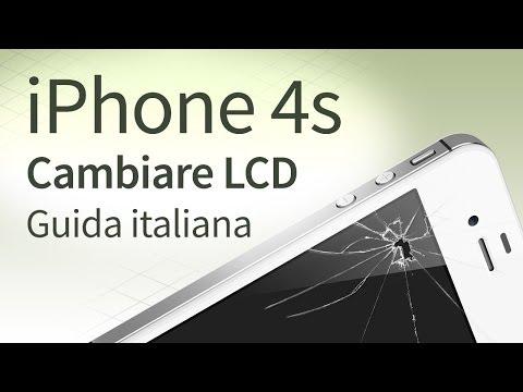 iPhone 4s Sostituire e Cambiare vetro, LCD, Touchscreen [guida italiana]