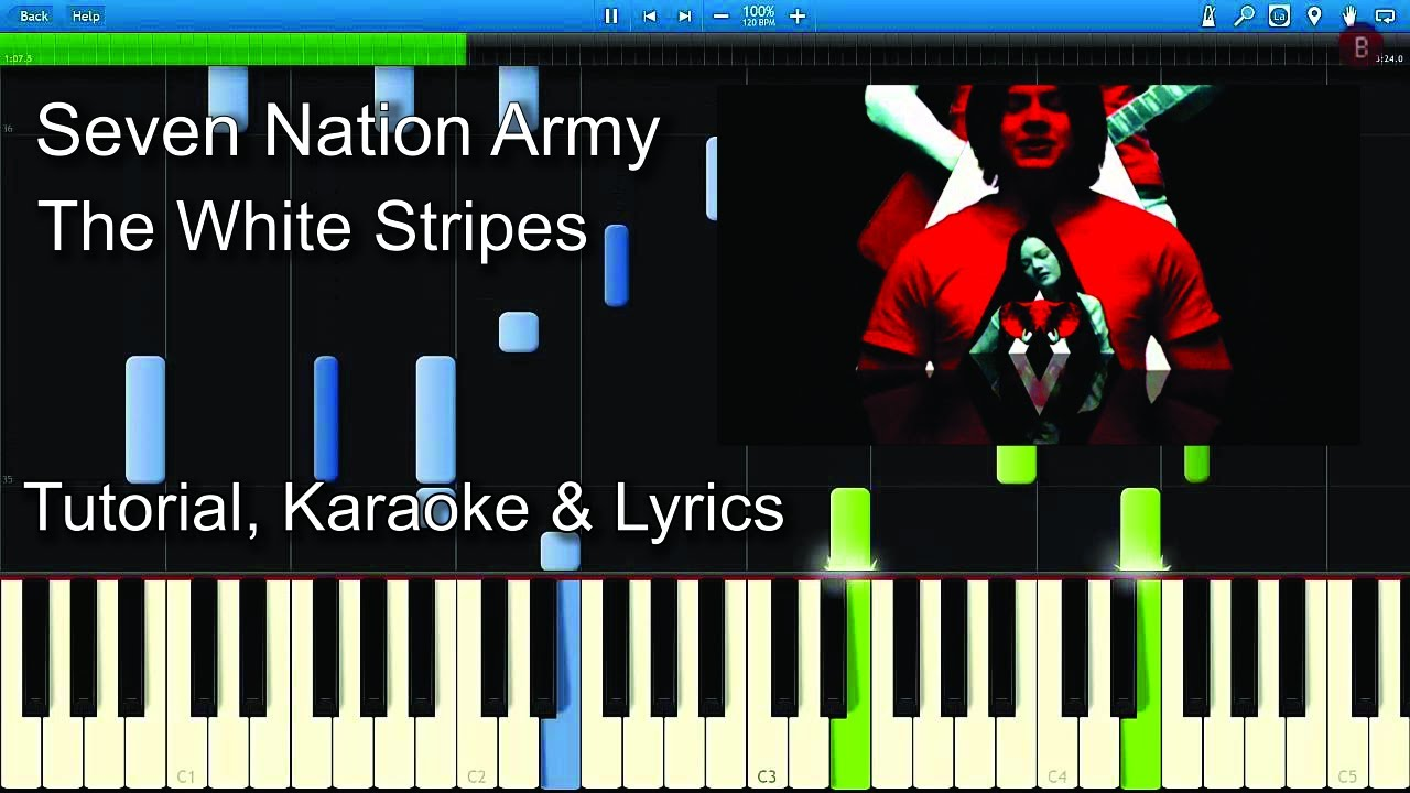 seven nation army the white stripes piano tutorial guitar chords lyrics karaoke youtube. Black Bedroom Furniture Sets. Home Design Ideas