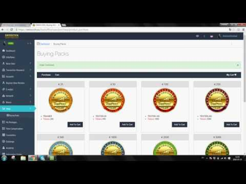 Swisscoin Tutorial #5 How to purchase a pack using TRADING account