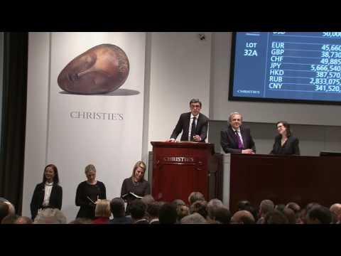 2017 World Auction Record | Constantin Brancusi –La muse endormie