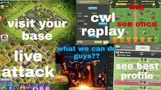 clash of clans live stream|visit your base|live attack|cwl replay|coc account give away free