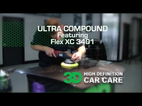 How to use ULTRA COMPOUND with a Dual Action Polisher and a Foam cutting pad
