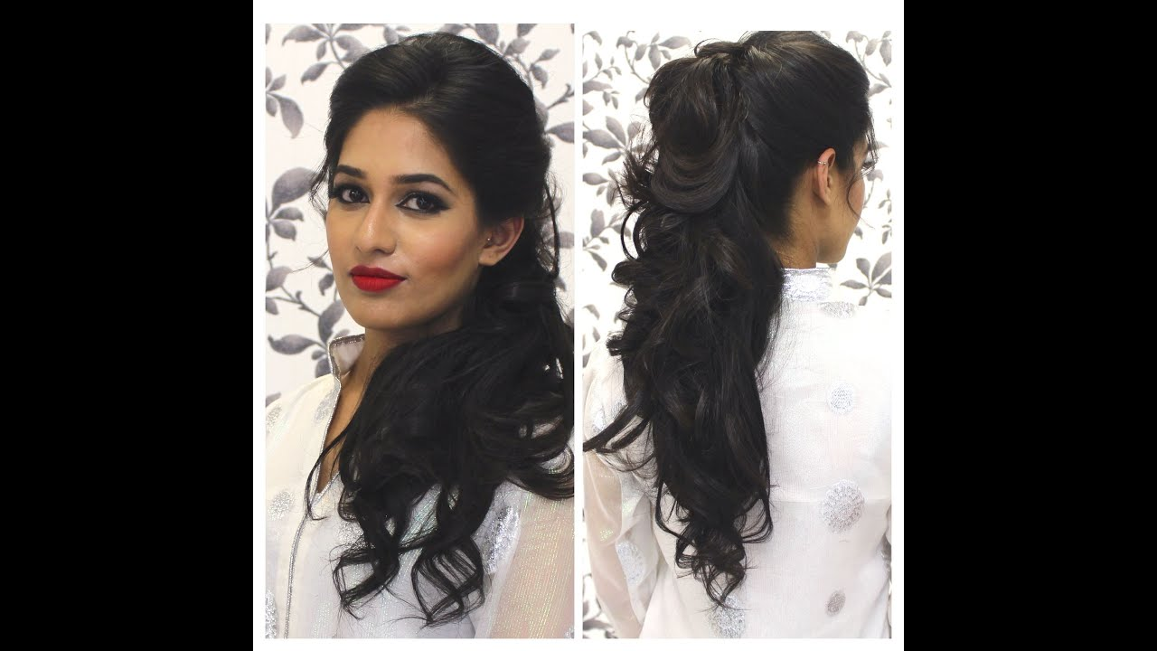 TUTORIAL Indian Party Hairstyle YouTube - Curly hairstyle indian