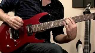 ESP LTD M-17 Candy Apple Red 7 String Electric Guitar Demo