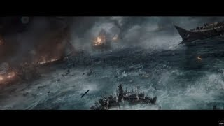Битва Римлян против Греков в море .