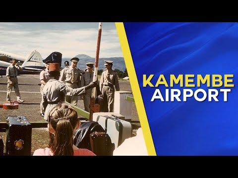 """Greetings from 1950's """"Kamembe International Airport"""" in Belgian Ruanda-Urundi"""