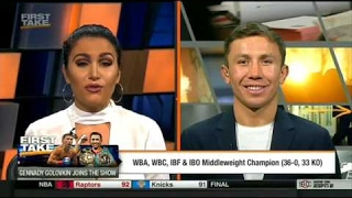 ESPN First Take - Gennady Golovkin Joins The Show