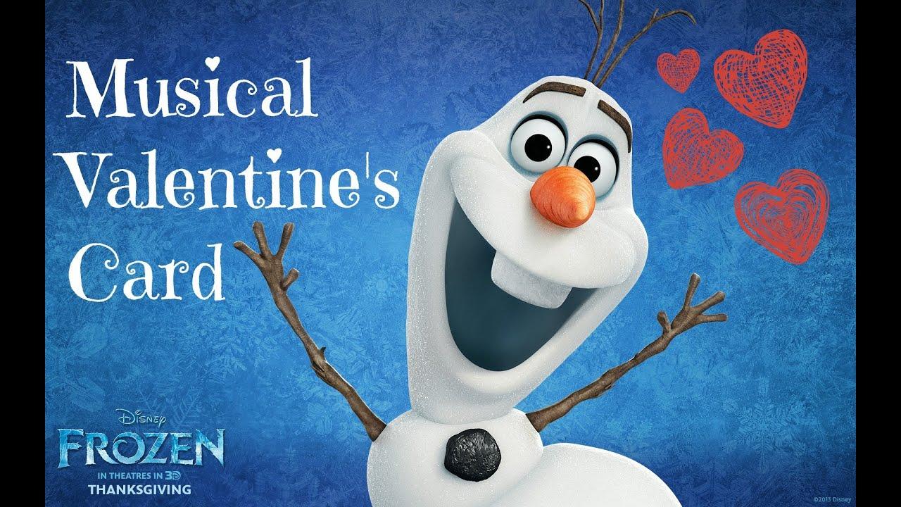 Valentineu0027s Card Idea I Disneyu0027s Frozen ♡   YouTube