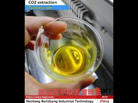 CO2 extraction of turmeric oil
