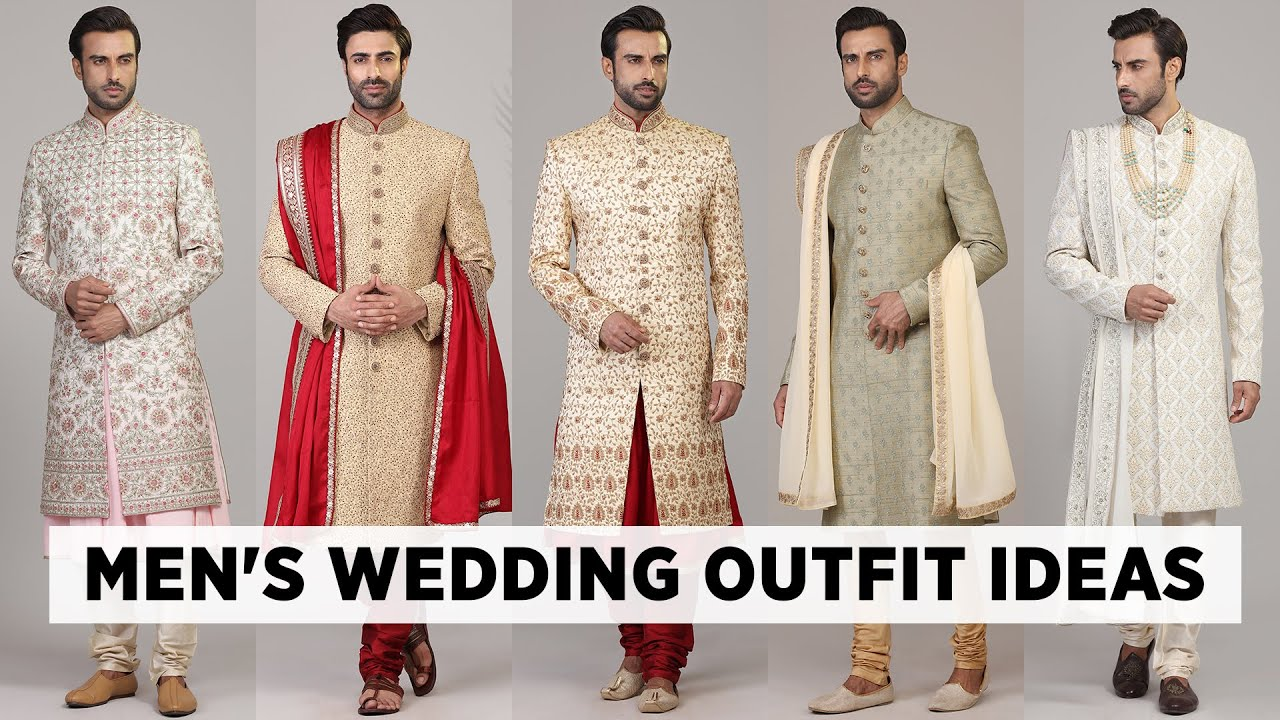 The Latest wedding outfits for men   Men's ethnic wear for wedding 20