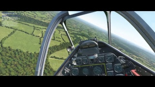 DCS Normandy - Burning skies in a P-51