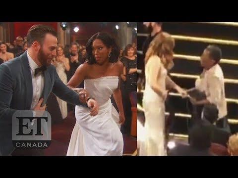 Chris Evans Helps Regina King, Amy Adams Congratulates Her Mom