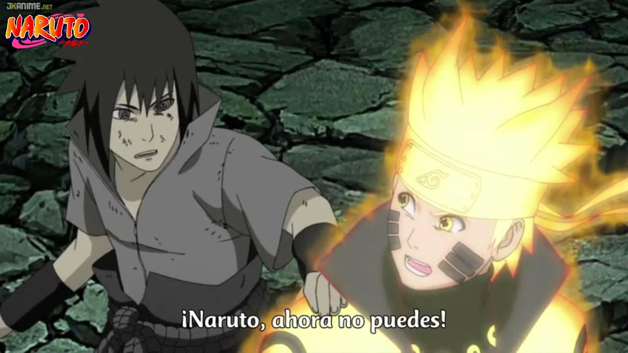 sasuke protege al equipo 7 naruto shippudencap 426 sub