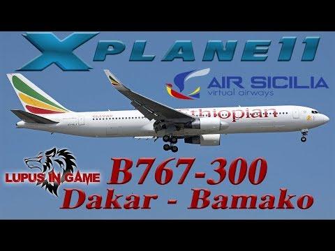 X plane 11 1 Volo carriera Ethiopian Airlines Dakar - Bamako B767-300