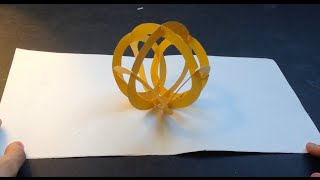 Super Easy Way To Make An 3D Ball Kirigami Pop Up Paper Tutorial | Free Pattern