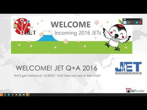 Incoming JETS 2016 Q+A Group A