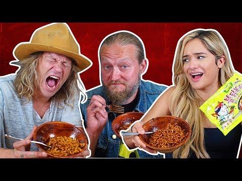 Spicy Black Bean Jjajang Noodle Challenge ft Jukka and Jarppi Dudesons