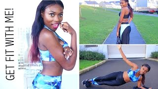 LOSING MY BELLY FAT AND TONING MY BUM| GET FIT WITH ME & WORKOUT LOOKBOOK Thumbnail