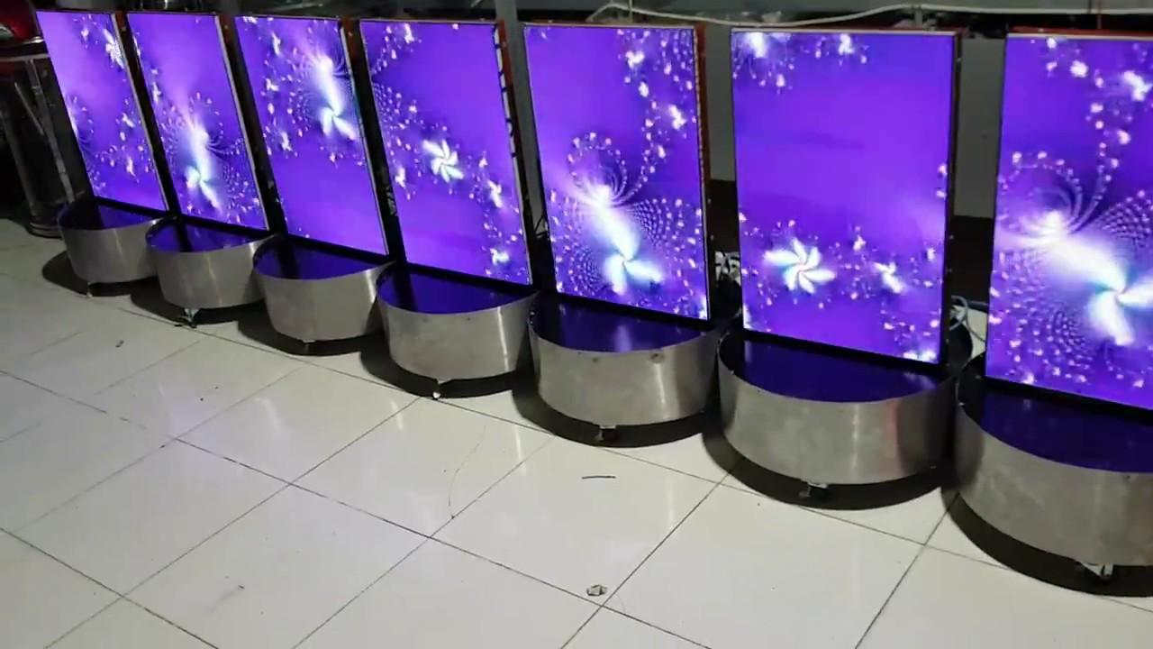 [Trống đứng 1]  Banner màn hình led p3 xài pin sạc   Hanhcd 0935550438
