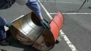 万能切断機 ダブルカッターでドラム缶切断!バーベキューコンロを作ろう ① thumbnail