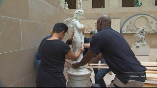 Behind the scenes at Pariss Louvre Museum