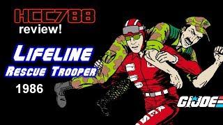 HCC788 - 1986 LIFELINE - Rescue Trooper - Vintage G.I. Joe toy review!