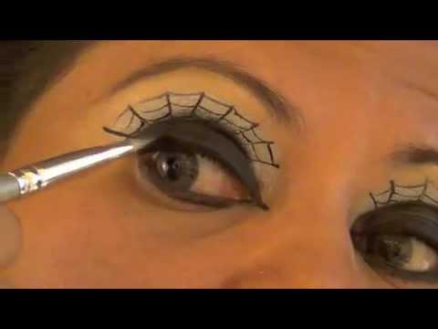 Maquiagem teia de aranha halloween youtube - Pinturas para halloween ...