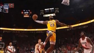 LeBron James First Points As A Laker