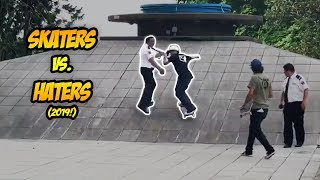 SKATERS vs THE WORLD #60! | Skaters vs. Haters, Cops/Security & Angry/Crazy People! + #Filmora9 Demo