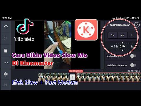 Cara Edit Video Slow Motion Di Kinemaster Seperti Di Tiktok Youtube