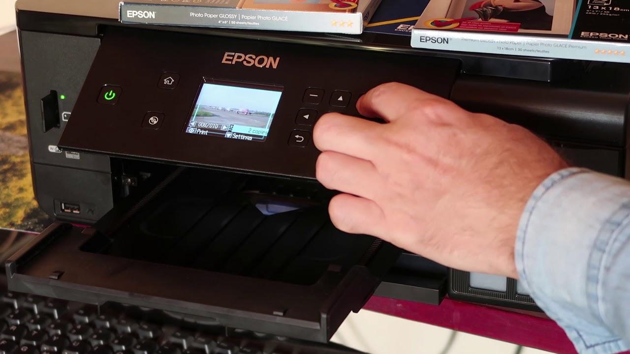 Epson L7160 printing 13x18 photos