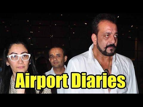 Airport Diaries: Sanjay Dutt Returns To Mumbai With Wife Manyata Dutt