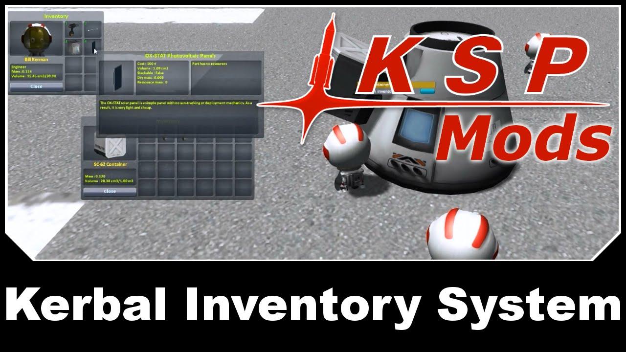 KSP Mods - Kerbal Inventory System
