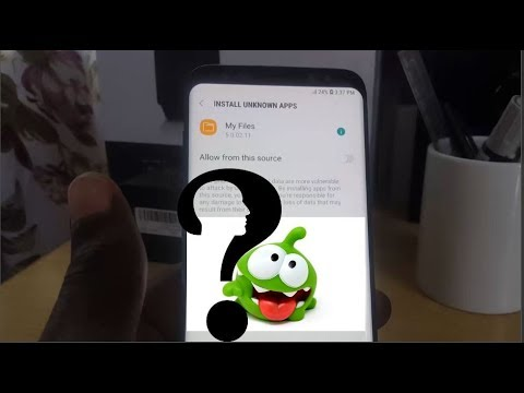 How to Install apk files on the Galaxy S9 with new Unknown Sources step by  step