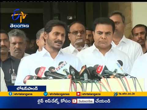 KTR Meets | YS Jagan to Discuss Over Federal Front | in Hyderabad