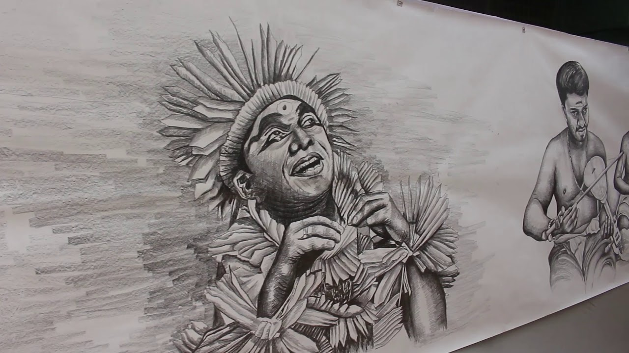 Chennai pencil drawing world record artist jayakumar punalur kollam