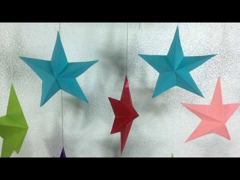 3D Paper Star |  Christmas Star | DIY Christmas Decorations | Christmas Star 3D